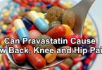 Can Pravastatin Cause Low Back, Knee and Hip Pain?
